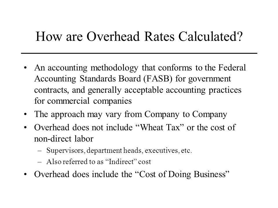 How are Overhead Rates Calculated.