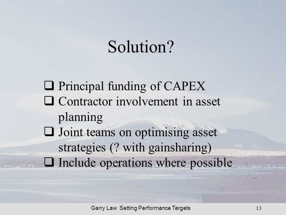 Garry Law Setting Performance Targets13 Solution.