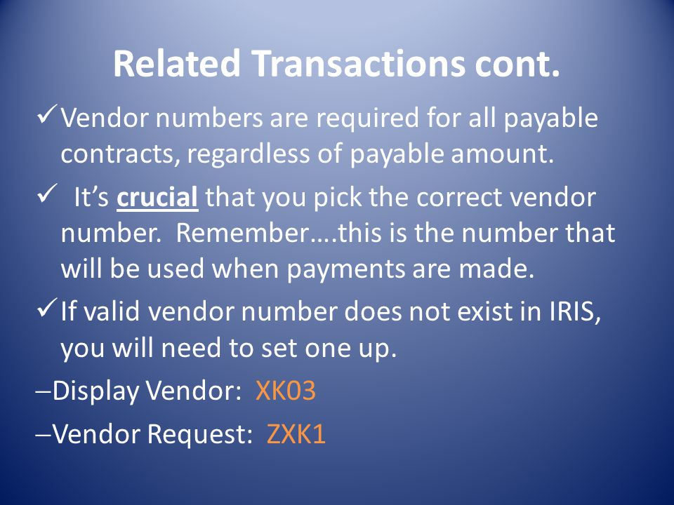 Related Transactions cont.