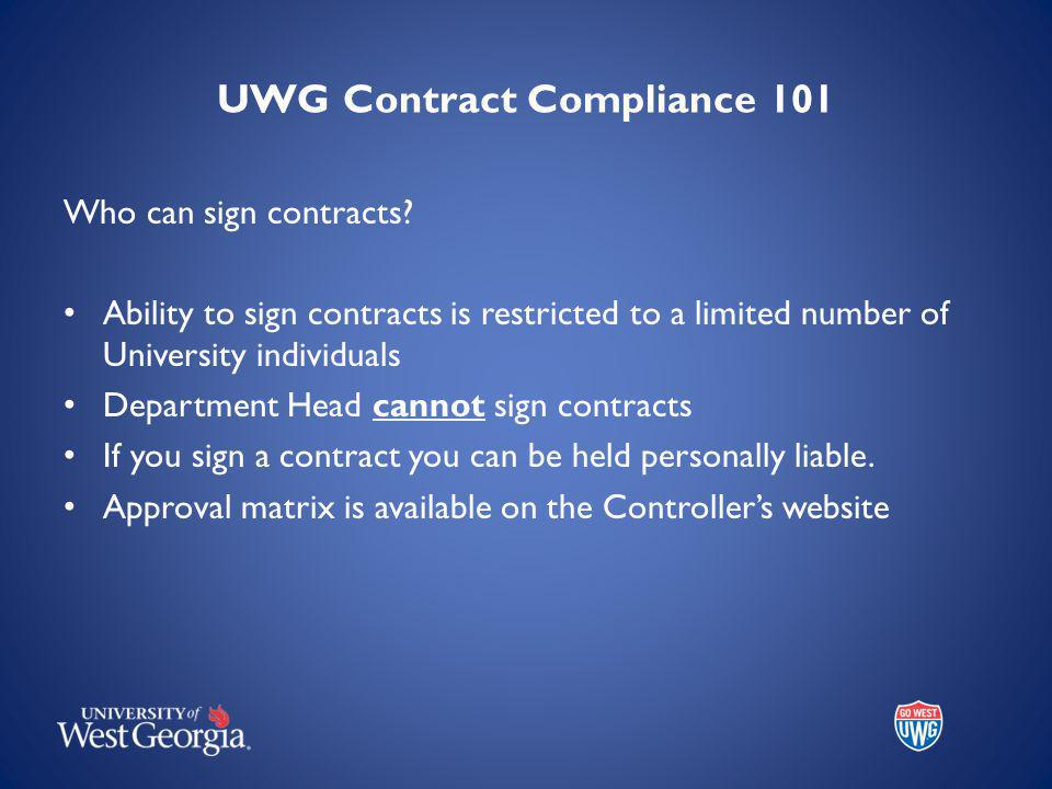 Who can sign contracts.
