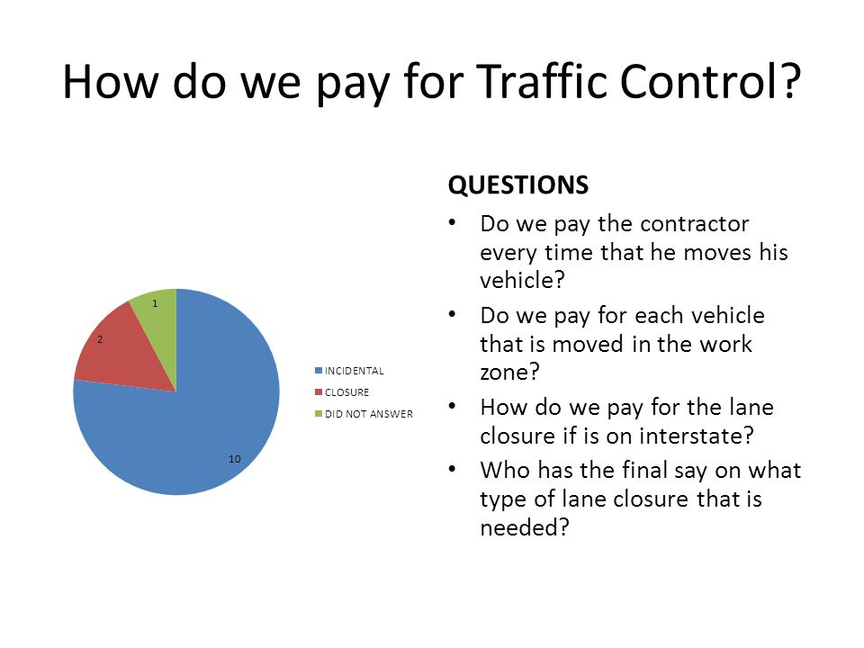 How do we pay for Traffic Control.