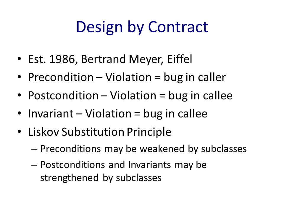 Design by Contract Est.