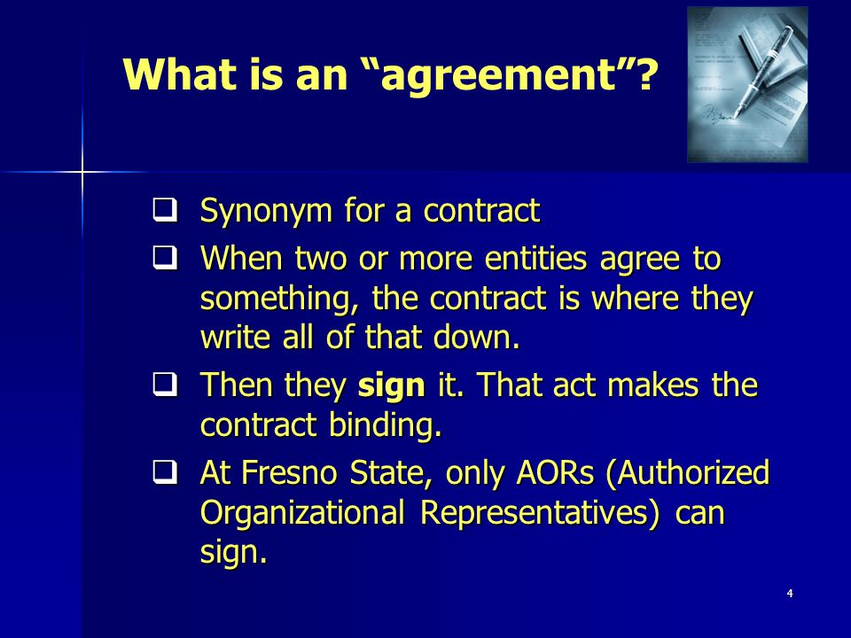 4 Synonym for a contract Synonym for a contract When two or more entities agree to something, the contract is where they write all of that down.