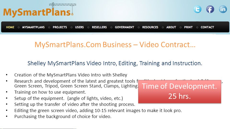 MySmartPlans.Com Business – Video Contract… Shelley MySmartPlans Video Intro, Editing, Training and Instruction.