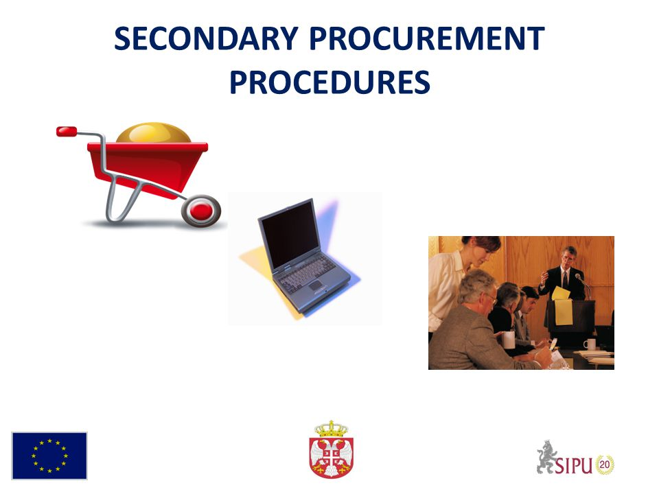 SECONDARY PROCUREMENT PROCEDURES