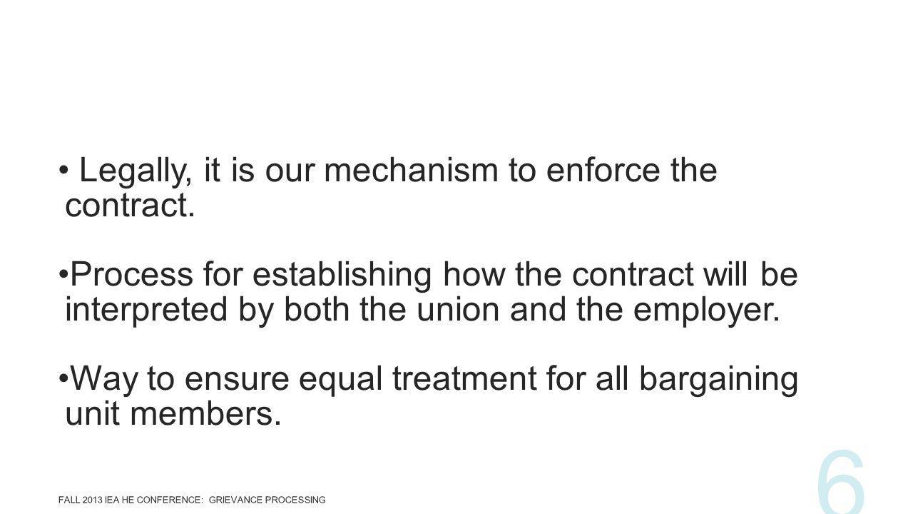 Legally, it is our mechanism to enforce the contract.
