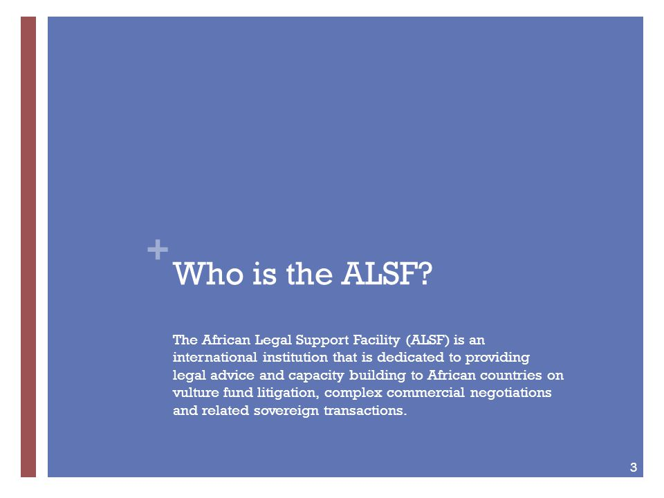 + Who is the ALSF.