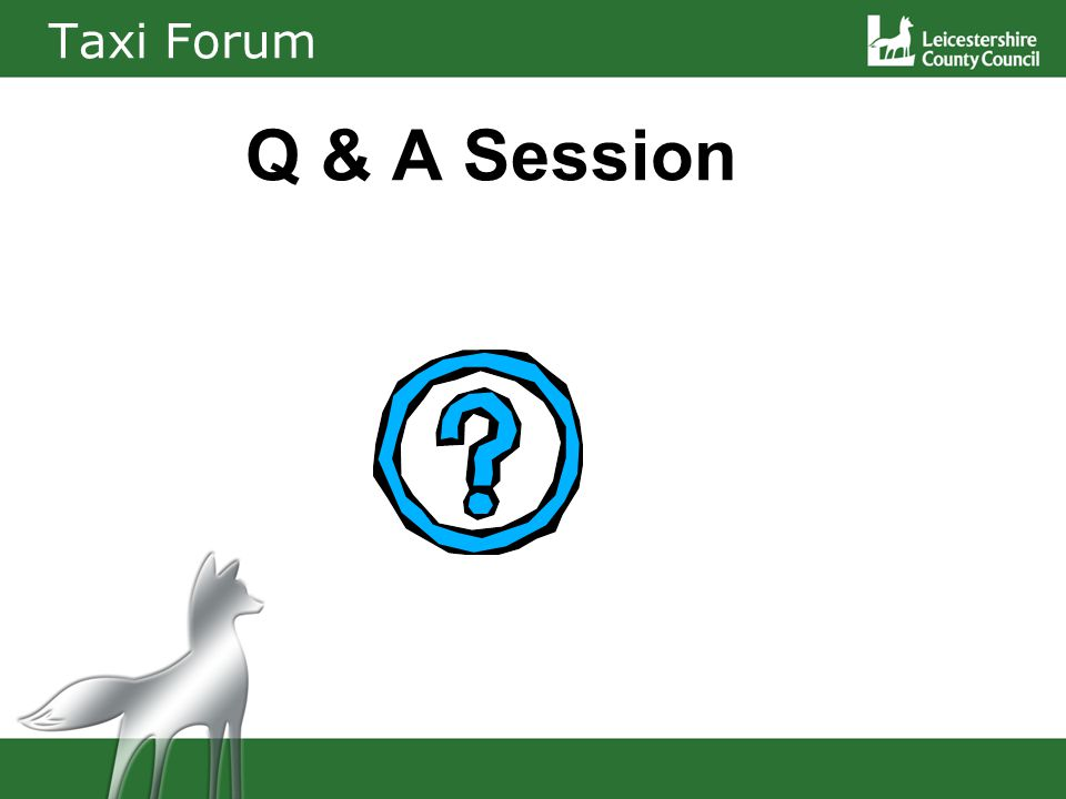 Taxi Forum Q & A Session