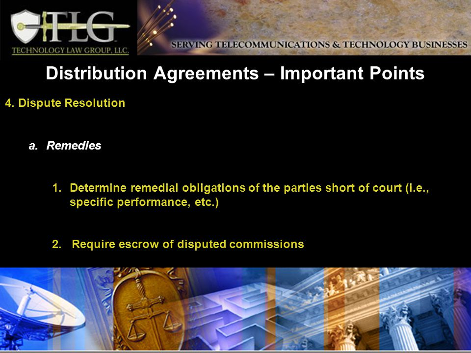 Distribution Agreements – Important Points 4.