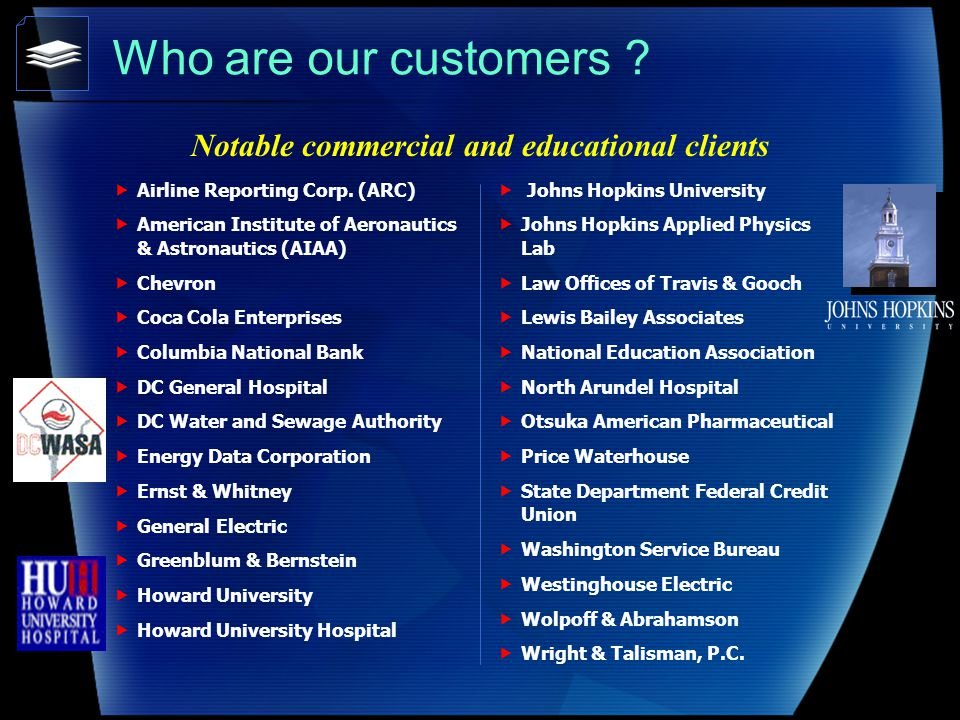 Who are our customers . Airline Reporting Corp.