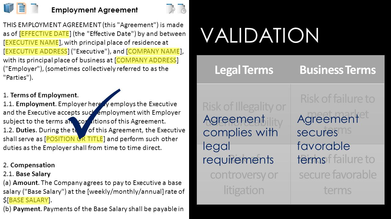 Employment Agreement THIS EMPLOYMENT AGREEMENT (this Agreement ) is made as of [EFFECTIVE DATE] (the Effective Date ) by and between [EXECUTIVE NAME], with principal place of residence at [EXECUTIVE ADDRESS] ( Executive ), and [COMPANY NAME], with its principal place of business at [COMPANY ADDRESS] ( Employer ), (sometimes collectively referred to as the Parties ).