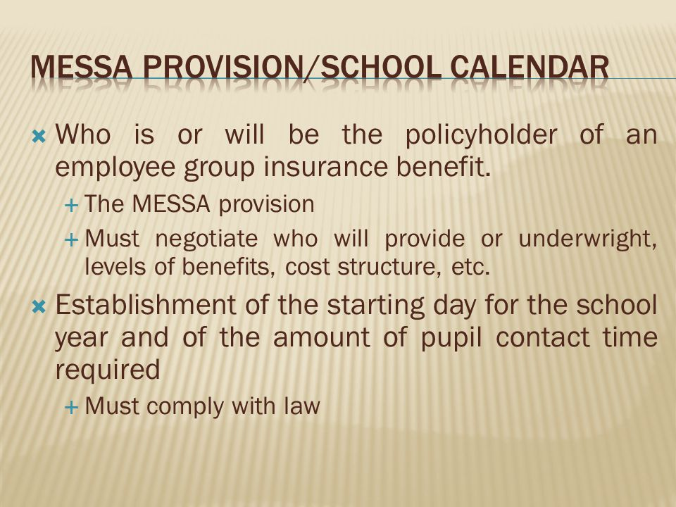 Who is or will be the policyholder of an employee group insurance benefit.