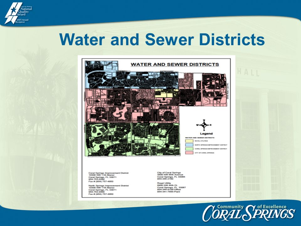 Water and Sewer Districts