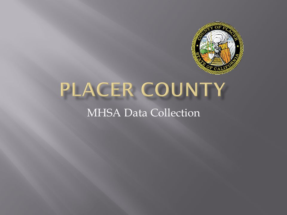 MHSA Data Collection