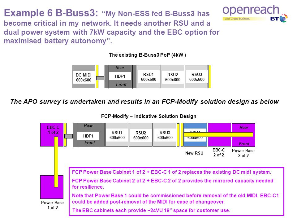 Example 6 B-Buss3: My Non-ESS fed B-Buss3 has become critical in my network.