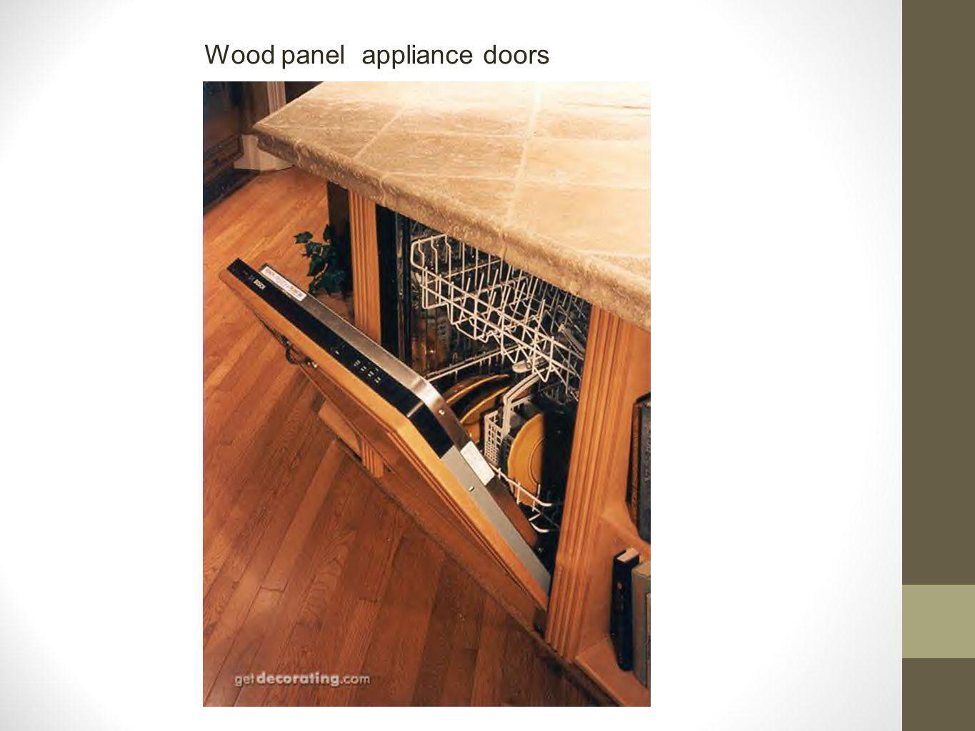 Wood panel appliance doors
