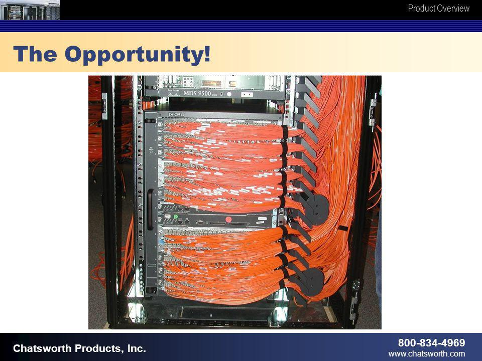 Product Overview 800-834-4969 www.chatsworth.com Chatsworth Products, Inc. The Opportunity!