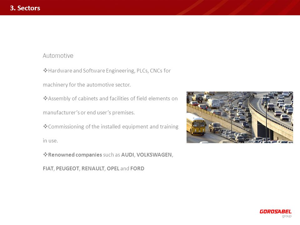 Automotive Hardware and Software Engineering, PLCs, CNCs for machinery for the automotive sector.