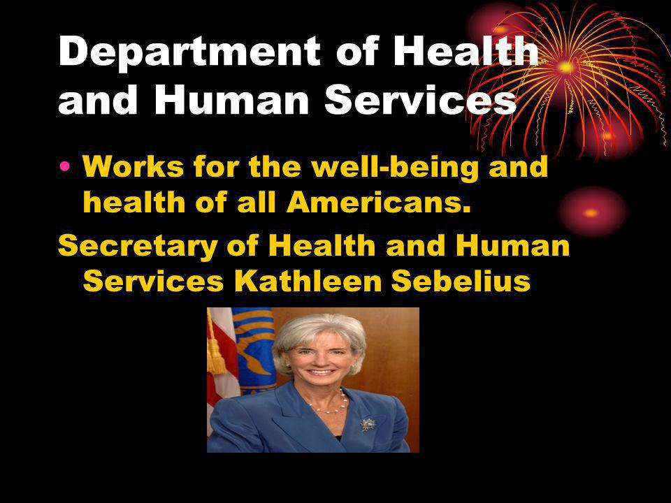Department of Health and Human Services Works for the well-being and health of all Americans.