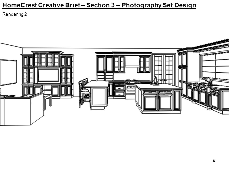 9 HomeCrest Creative Brief – Section 3 – Photography Set Design Rendering 2