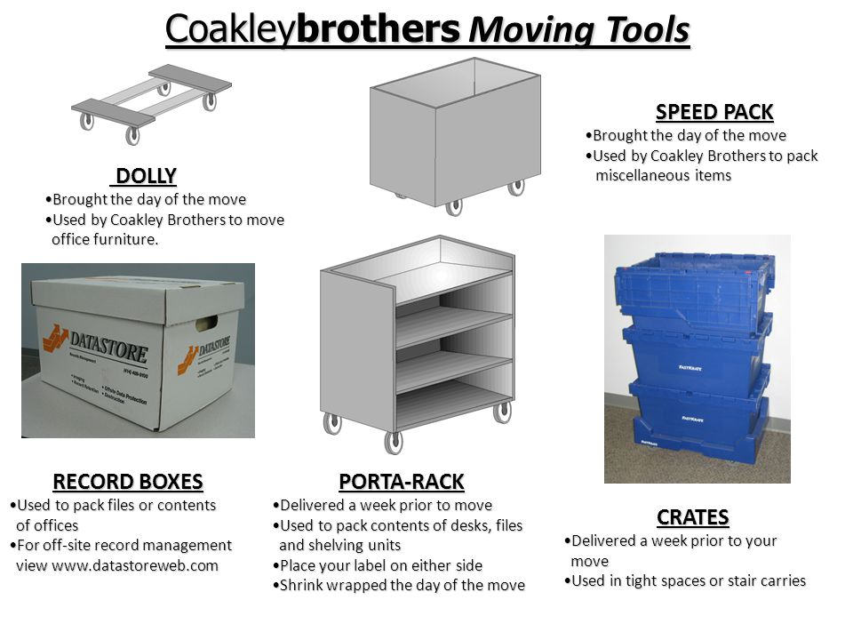 Corporate Installation & Relocation The Coakley Brothers DifferenceThe Coakley Brothers Difference –How we get you there makes the difference Production Line TheoryProduction Line Theory Coakleybrothers Were more than just a mover…office environments and more.