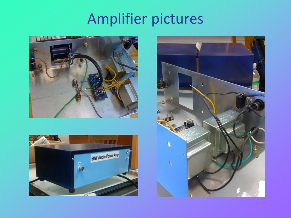 Amplifier pictures