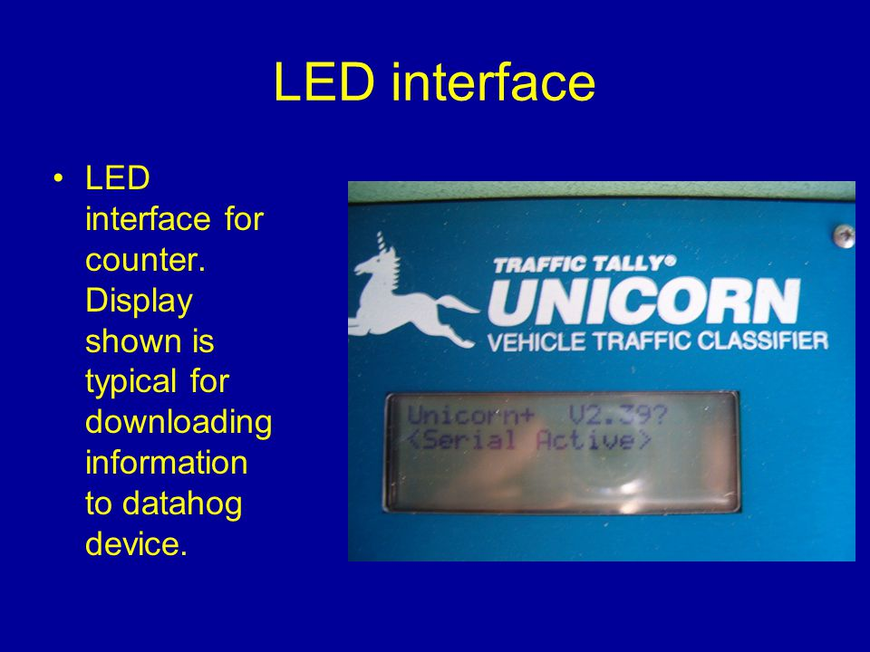 LED interface LED interface for counter.