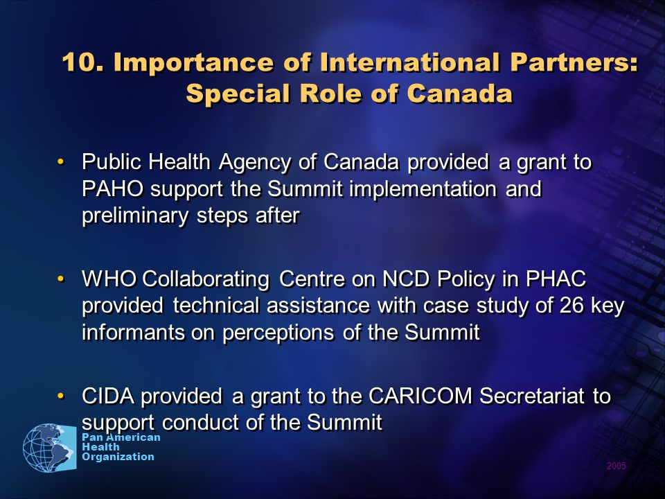 2005 Pan American Health Organization 10.