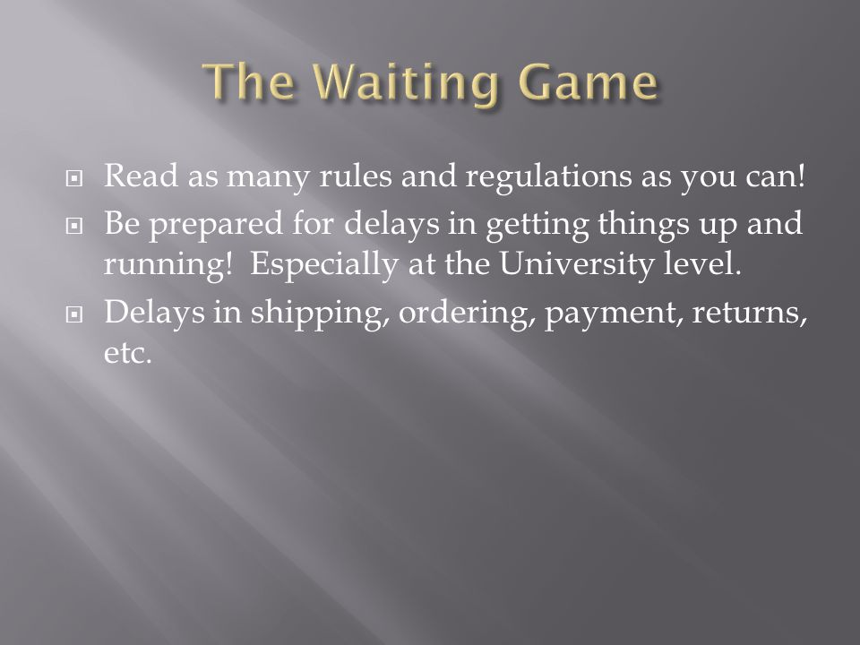Be prepared to wait. You get a detailed list of what you need.
