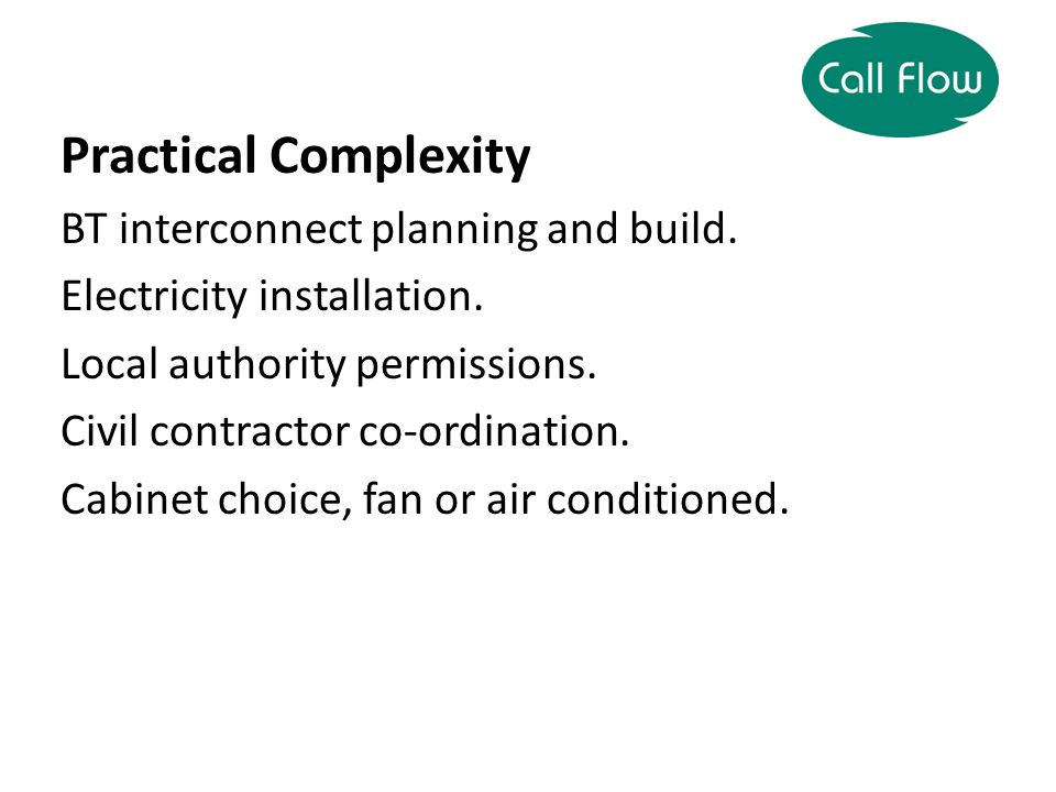 Practical Complexity BT interconnect planning and build.