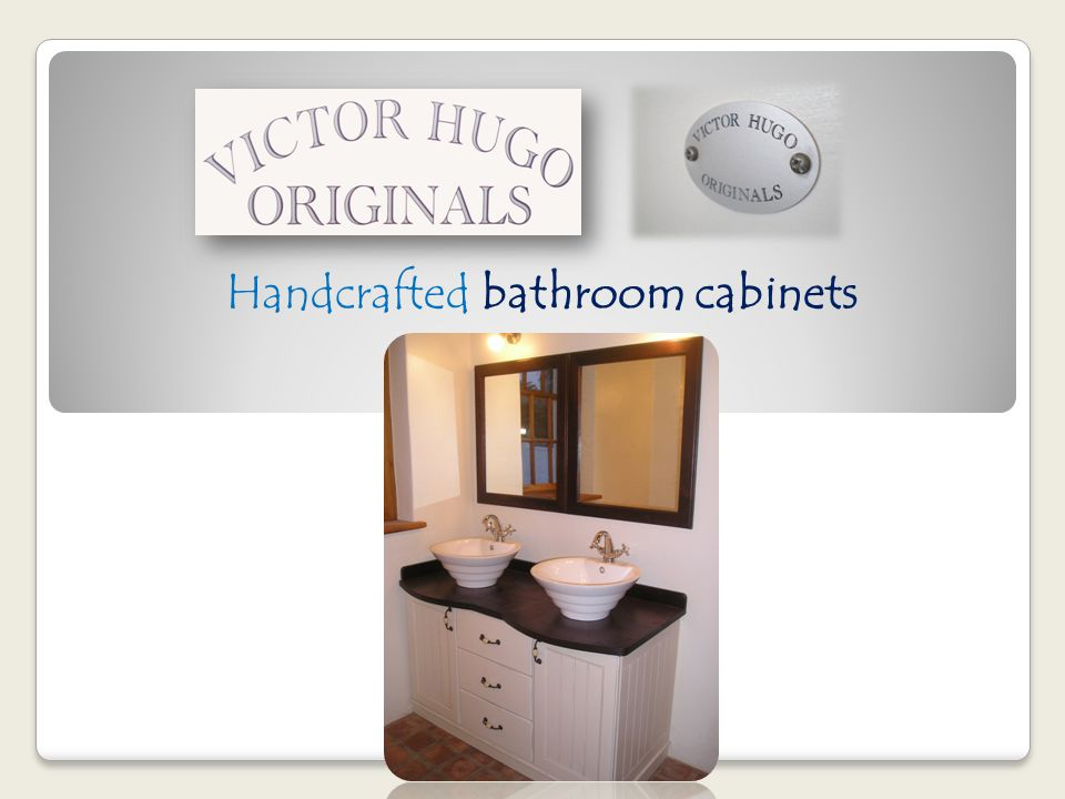 Handcrafted bathroom cabinets