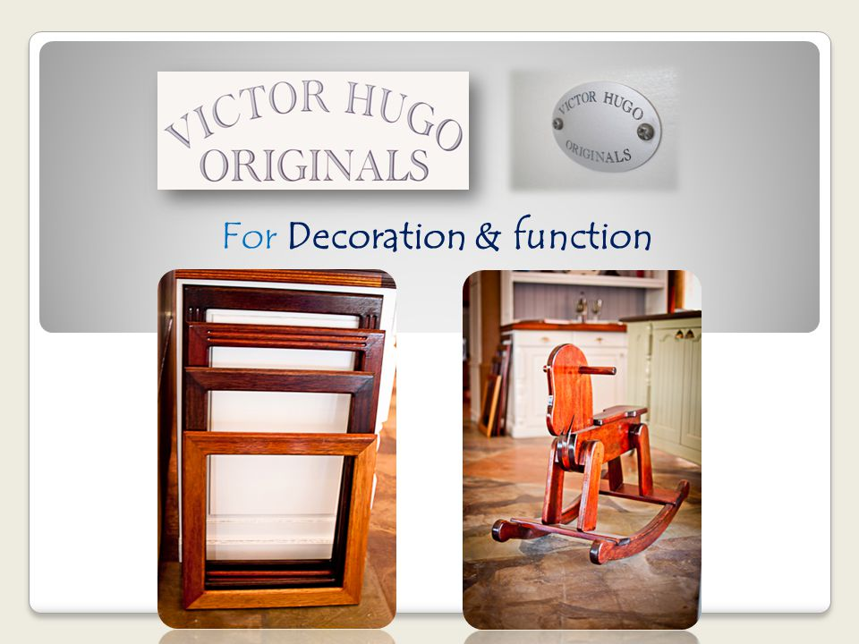 For Decoration & function