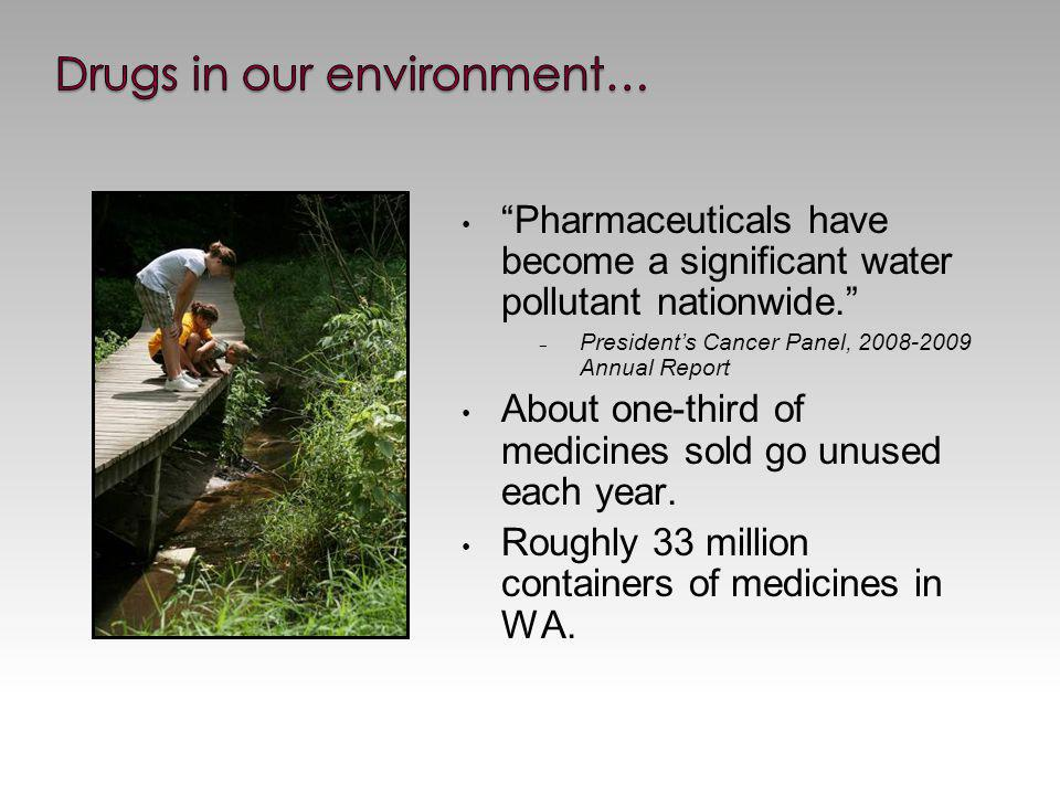Pharmaceuticals have become a significant water pollutant nationwide.