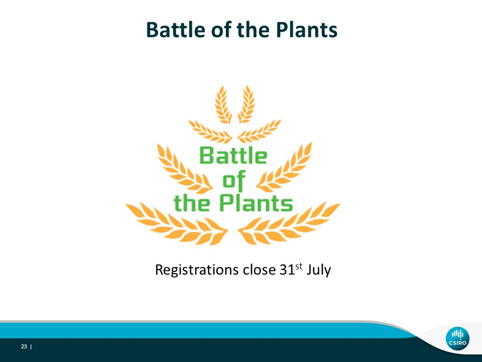 Battle of the Plants 23 | Registrations close 31 st July