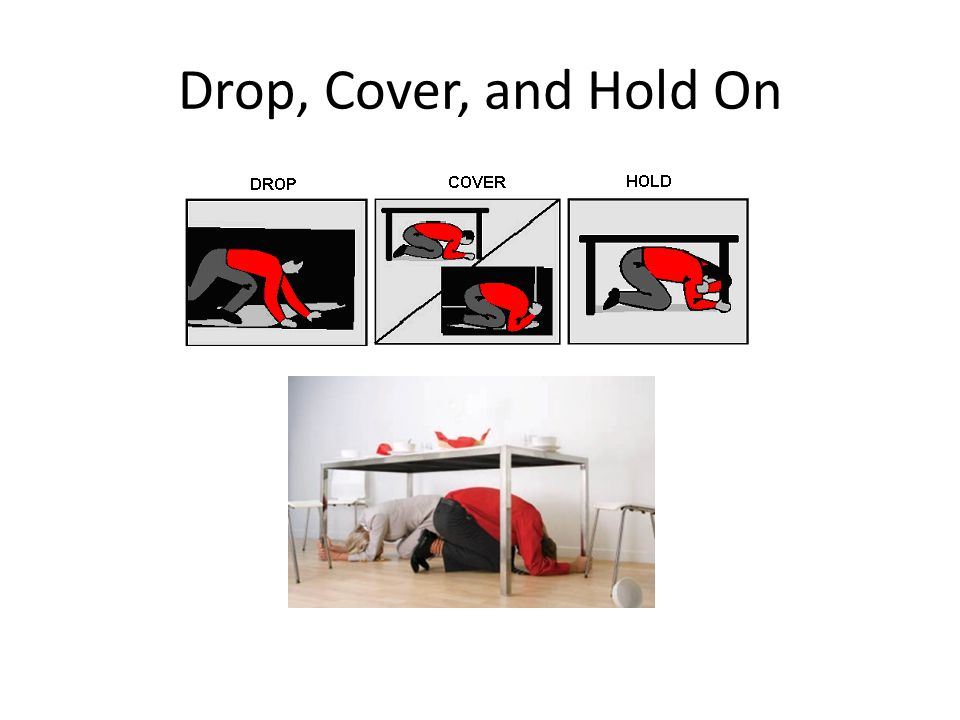 Drop, Cover, and Hold On