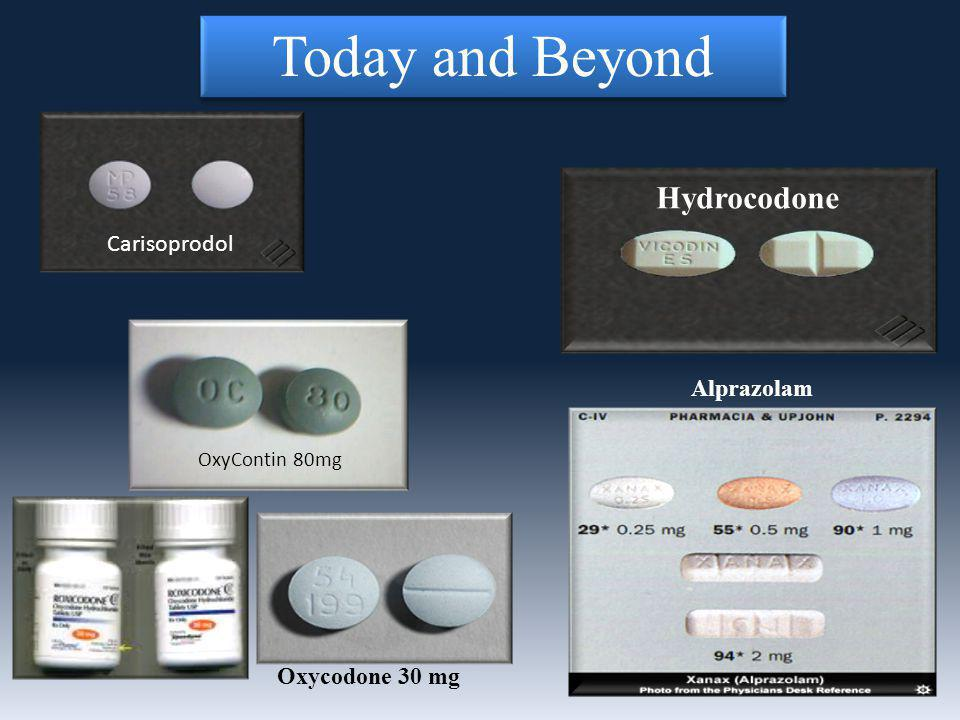 Hydrocodone Alprazolam Oxycodone 30 mg Carisoprodol OxyContin 80mg Today and Beyond