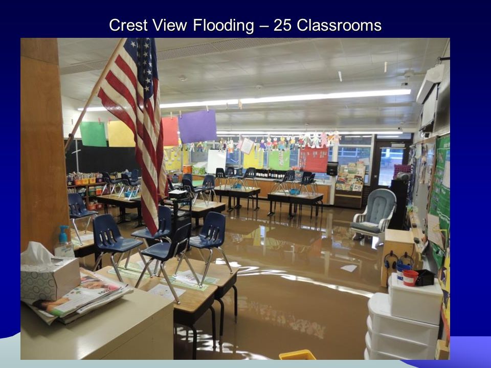 Crest View Flooding – 25 Classrooms