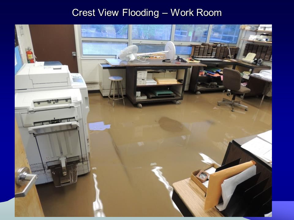 Crest View Flooding – Work Room