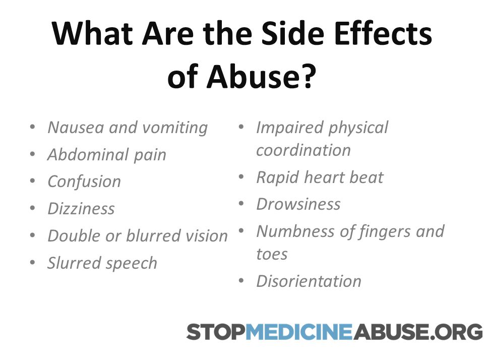 What Are the Side Effects of Abuse.