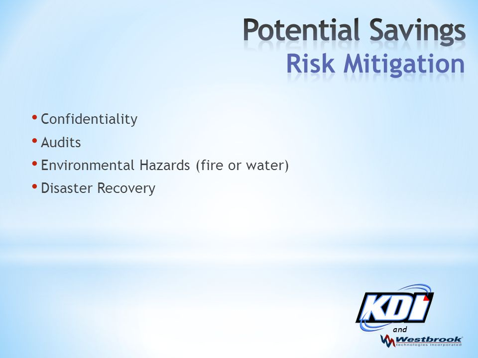 and Confidentiality Audits Environmental Hazards (fire or water) Disaster Recovery