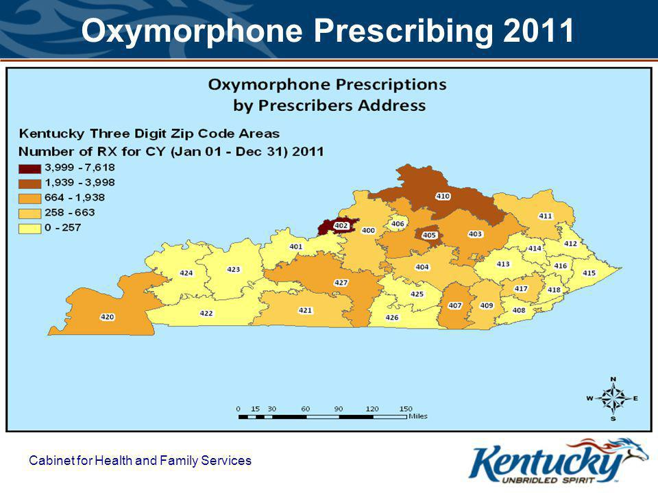Cabinet for Health and Family Services Oxymorphone Prescribing 2011