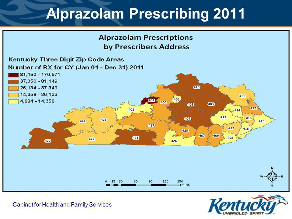 Cabinet for Health and Family Services Alprazolam Prescribing 2011