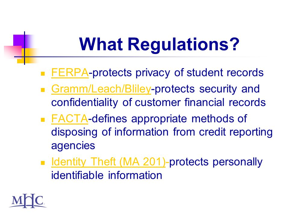 What Regulations.