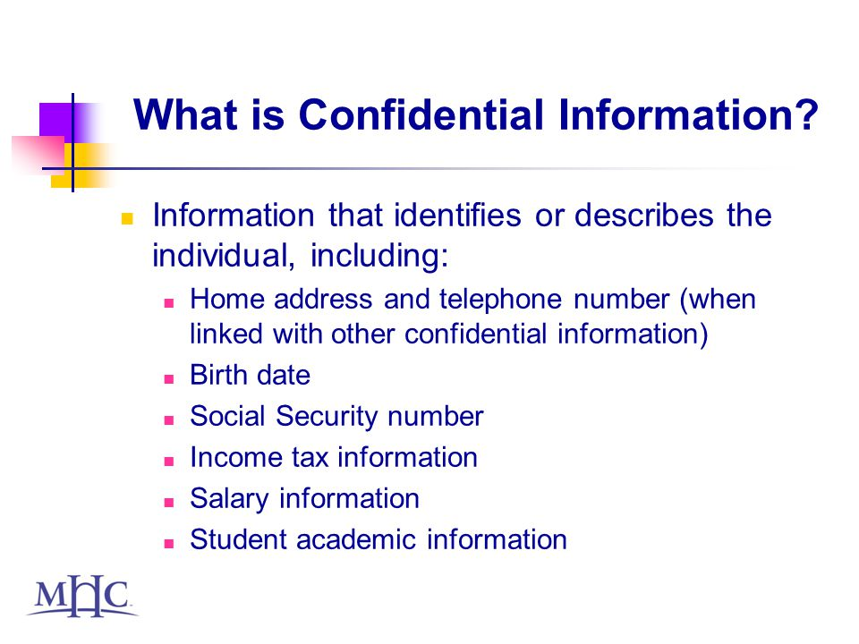 What is Confidential Information.