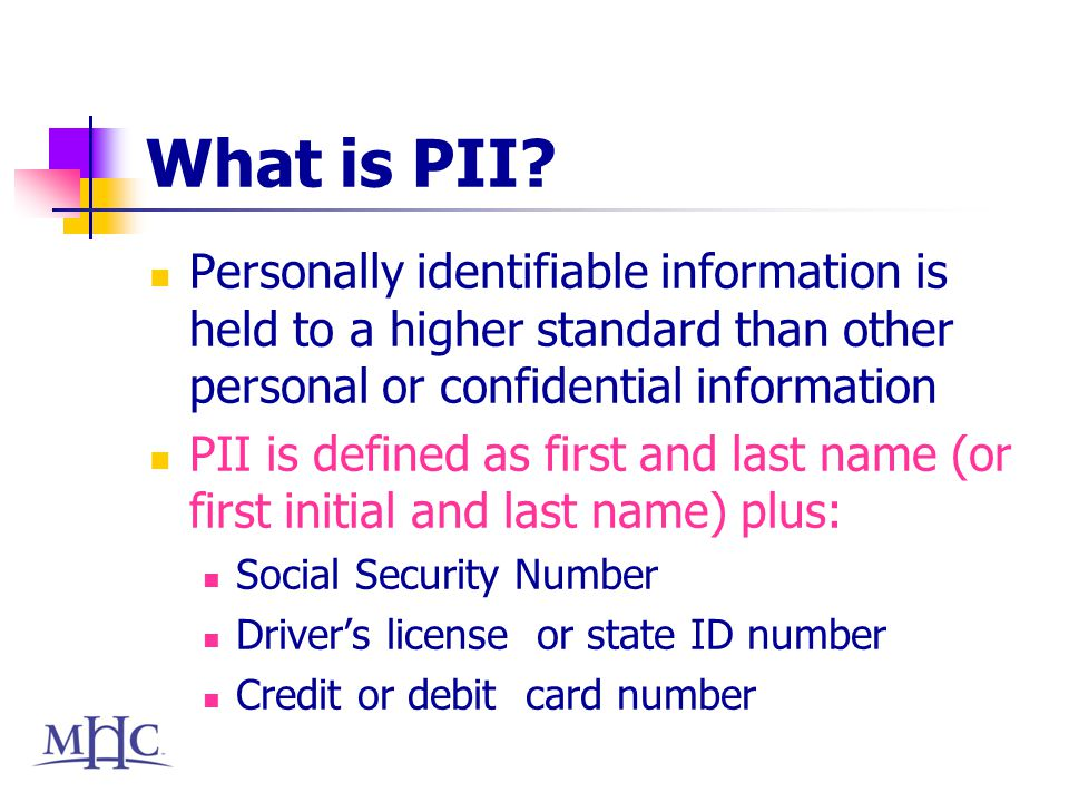 What is PII.
