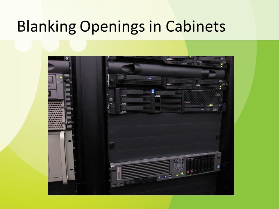 Blanking Openings in Cabinets