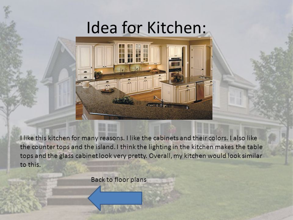 Idea for Kitchen: I like this kitchen for many reasons.
