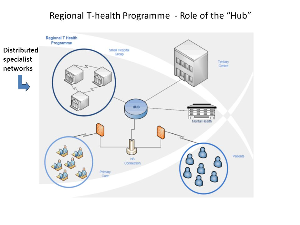 Regional T-health Programme - Role of the Hub Distributed specialist networks