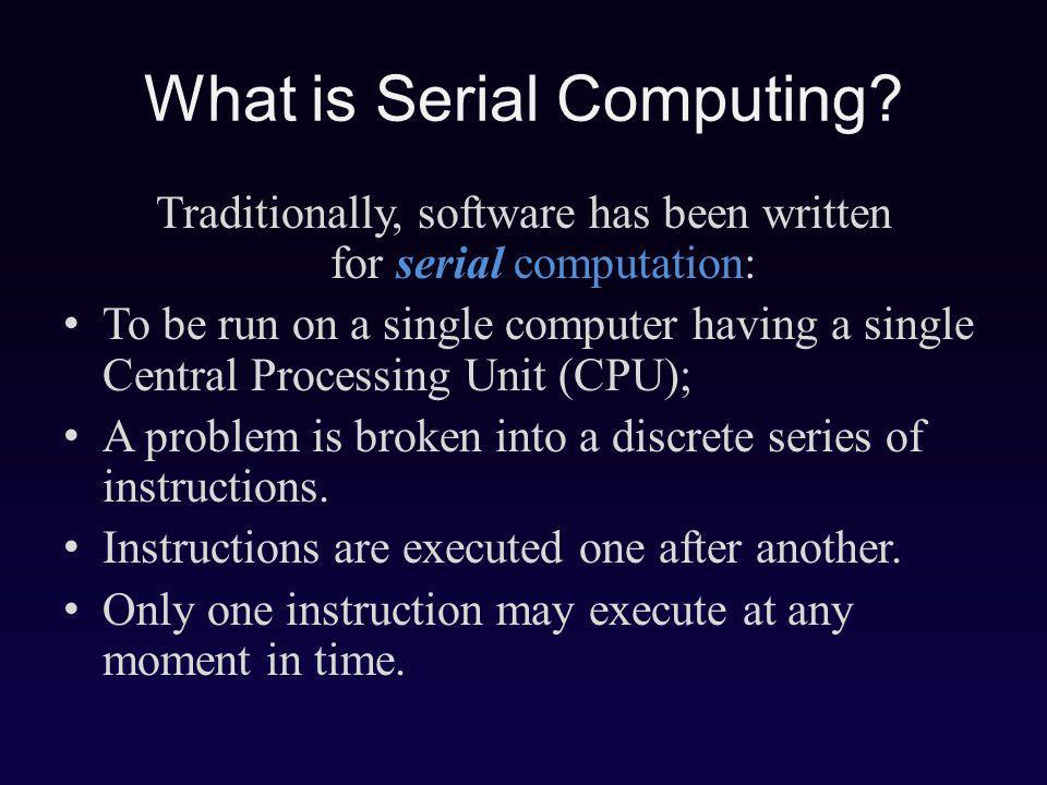 What is Serial Computing.