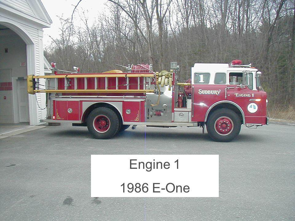 Article 6 - Purchase of Fire Engine - 2007 Annual Town Meeting Engine 1 1986 E-One
